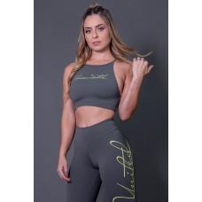 Top Fitness Transpassado Com Silk Assinatura